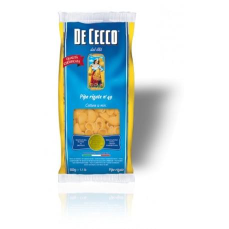 Pâtes Pipe Rigate - De Cecco