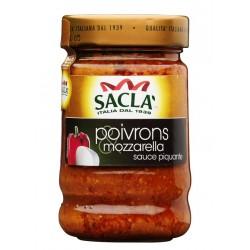 Sacla-Sauce poivrons et mozzarella