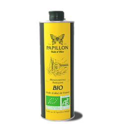Huile d'olive Arbequine Papillon