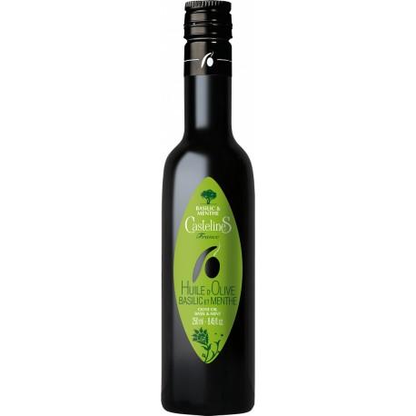 Huile d'olive au basilic et menthe