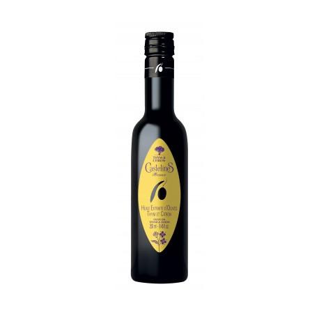 Huile d'olive au thym et citron biologique