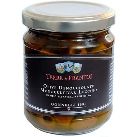 Olives Leccino à l'huile d'olive